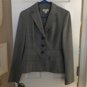 Ann Taylor Loft Heather Gray Blazer Size 4